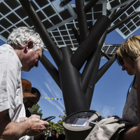 Solar Tree-Urban transformation City Square Solar Energy Solar Panel System Multi-Function Tree