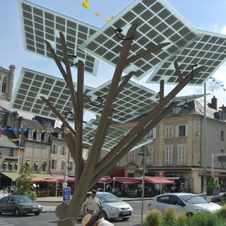 Solar Tree-Hot Sell OEM Solar Stainless Steel Advertising Bench